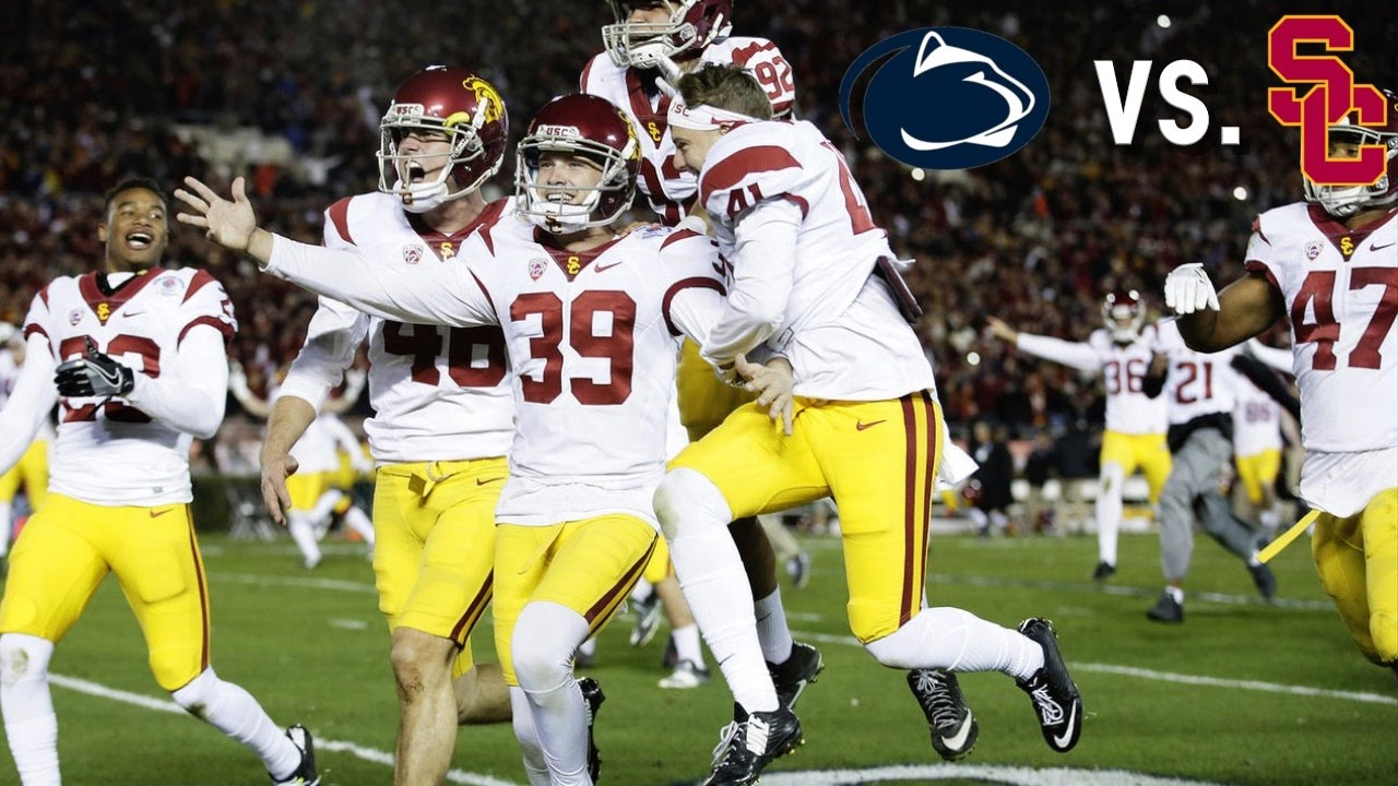 A Game to Remember: 2017 Rose Bowl || USC vs. Penn State ...