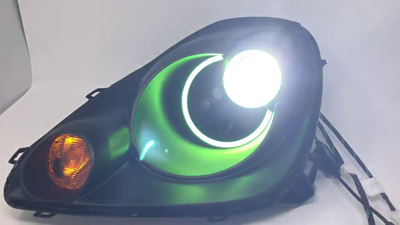 2003-2005 Toyota MR2 Spyder Black Halo LED Projector