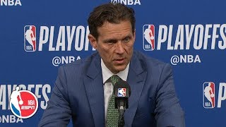 Quin Snyder commends his team's toughness after falling in Game 3 | 2019 NBA Playoffs