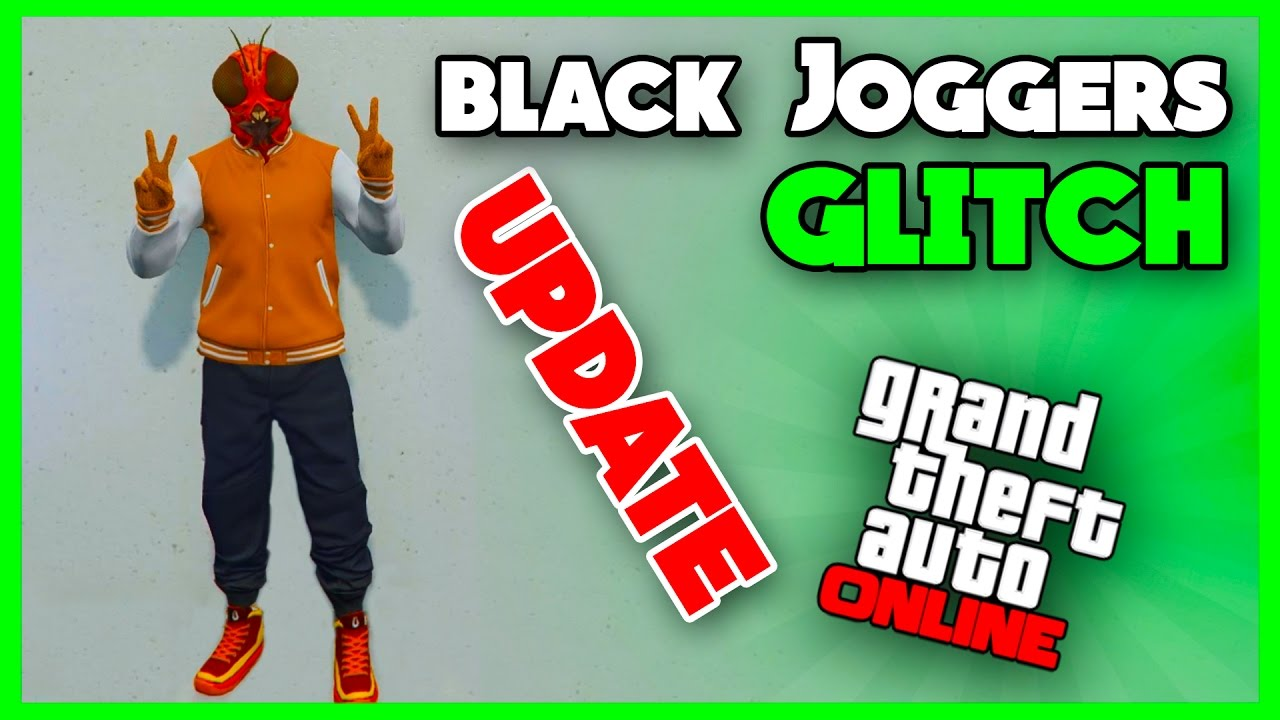 GTA 5 ONLINE - *NEW* EASY BLACK JOGGERS GLITCH! MODDED OUTFITS (XB1,PS4 &  PC) PATCH 1 36