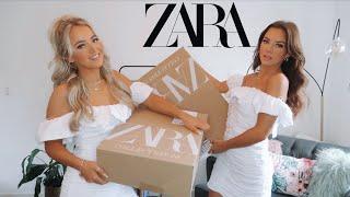 HUGE ZARA TRY ON HAUL! | Immie and Kirra