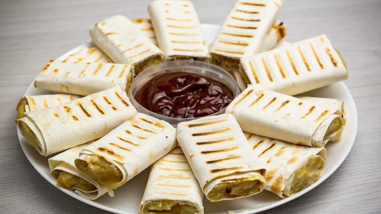 Потрясающая закуска из лаваша. Простой и вкусный рецепт