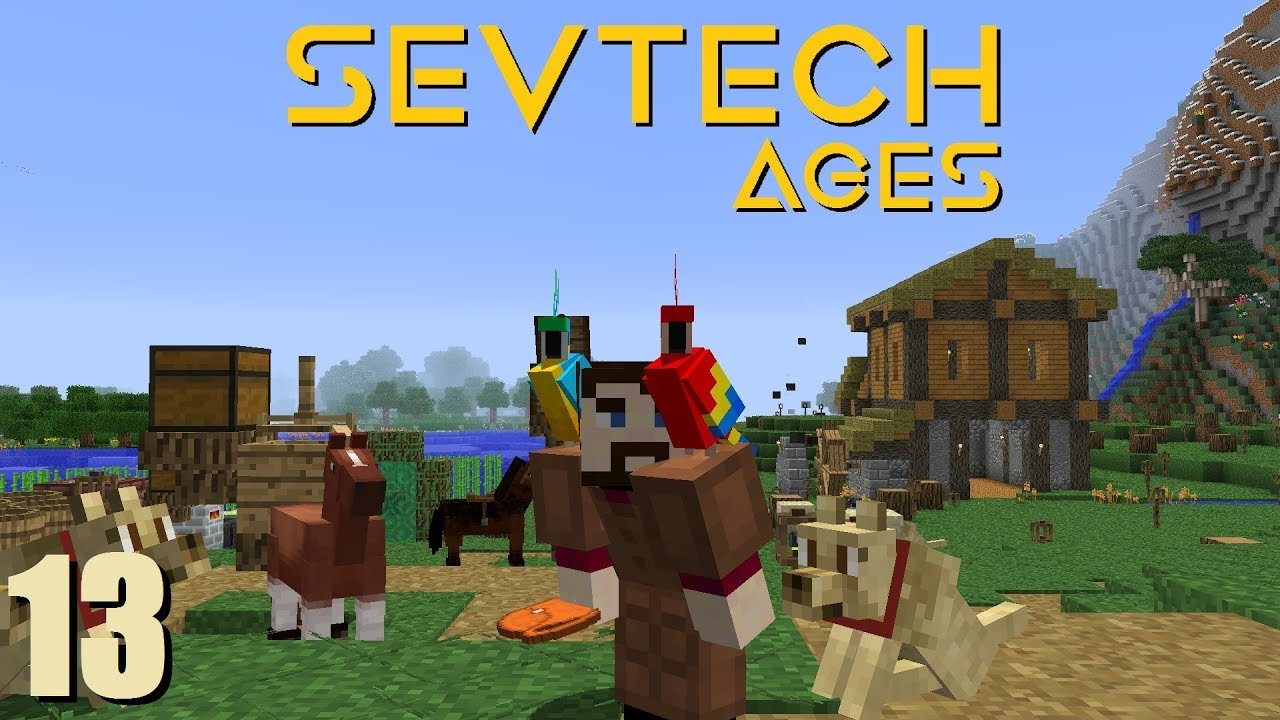 SevTech Ep 13: Water Mill and Parrots