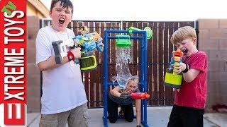 Babysitter Showdown Sneak Attack Squad Nerf Battle Vs Aunt