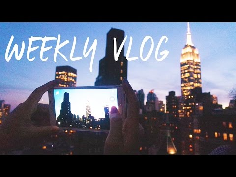 NYC ROOFTOPS // FLUME // STUDIO FILMING // CUTE COFFEE SHOPS  | C&C