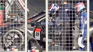 SUPER GTのNSX-GTでのエキシビションレース。レース中に佐藤琢磨とピエ...