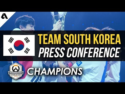 Team South Korea Press Conference - Overwatch World Cup 2018 Champions