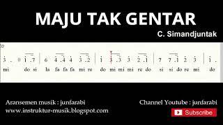 not angka maju tak gentar - do = C Mayor - lagu wajib nasional - doremi / solmisasi