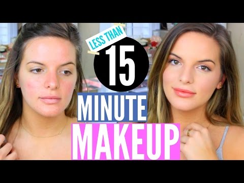 QUICK & EASY Drugstore Makeup Tutorial! Less Than 15 Minutes (Literally) | Casey Holmes