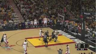 Wii U - NBA 2K13 Gameplay (Heat vs. Nets)