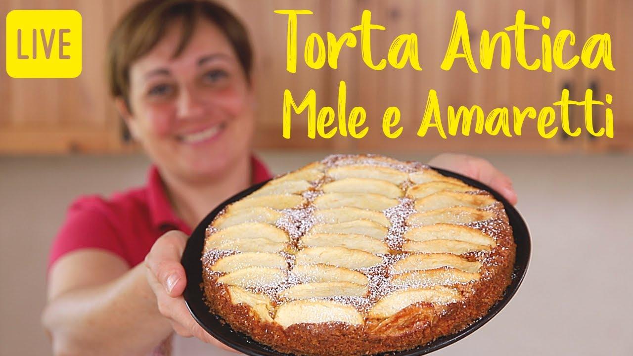 Ricetta Torta Di Mele Benedetta.Torta Antica Di Mele E Amaretti Ricetta Facile In Diretta Youtube