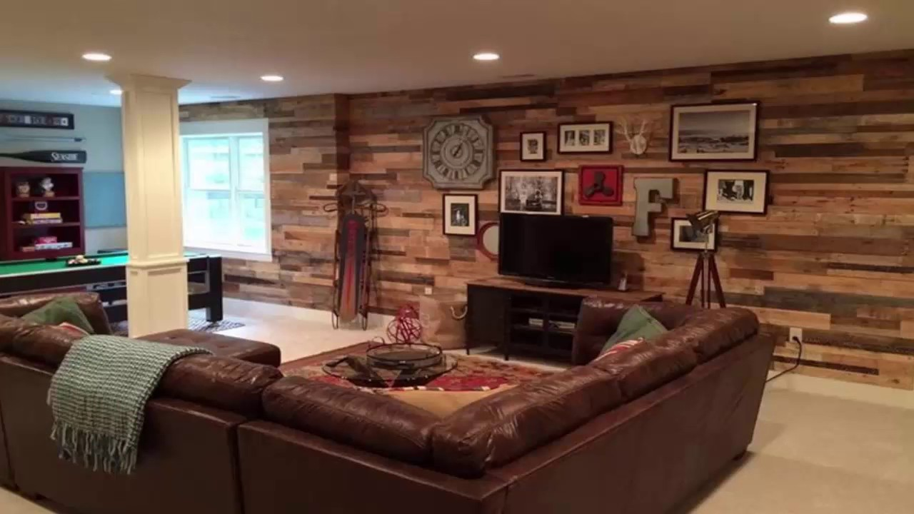 Wood Pallet Wall Living Room - YouTube