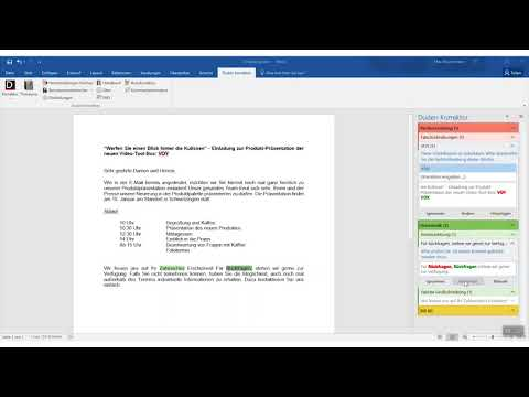 Wie der Duden Korrektor für Microsoft Office Ihnen hilft, richtig zu schreiben
