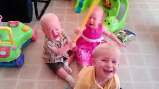 Twins Baby Video 😛 😜 😝 Twins Baby Playing Together Make Your Day 👉🏽 Funny Baby Video🧸