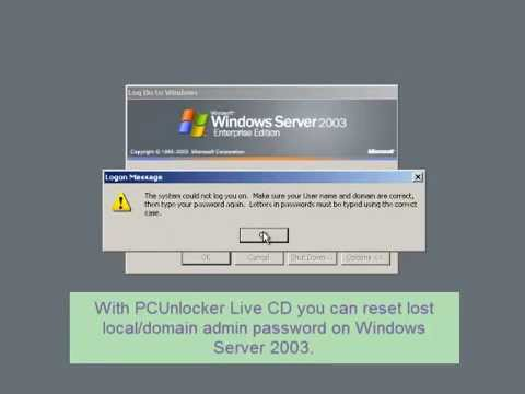 Reset Windows Server 2003 Domain Admin Password After Forgotten