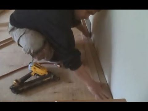 hardwood floor installation instructions: how to start nail down