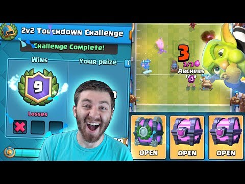 WINNING NEW TOUCHDOWN CHALLENGE!? & ALL CHEST OPENING! | Clash Royale | CAN WE GET A LEGENDARY!