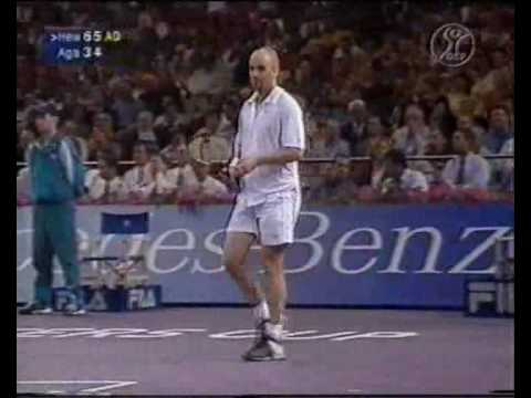Lleyton Hewitt vs. Andre Agassi Masters Cup 2001  Sydney Round Robin