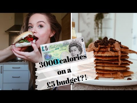 3000 CALORIES ON A £5 BUDGET!? // 3 amazing meals