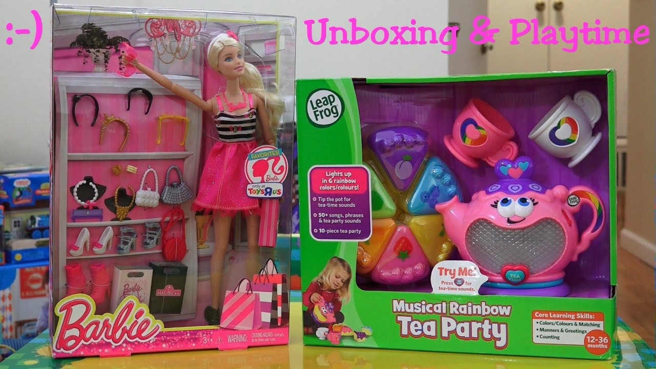 Toys for Little Girls Musical Rainbow Tea Party and Barbie Doll