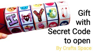 Gift with Secret Code to open Tutorial l Combination Vault l Cryptex l By Crafts Space