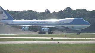 President Donald Trump Arrives at Newport News/Williamsburg International Airport