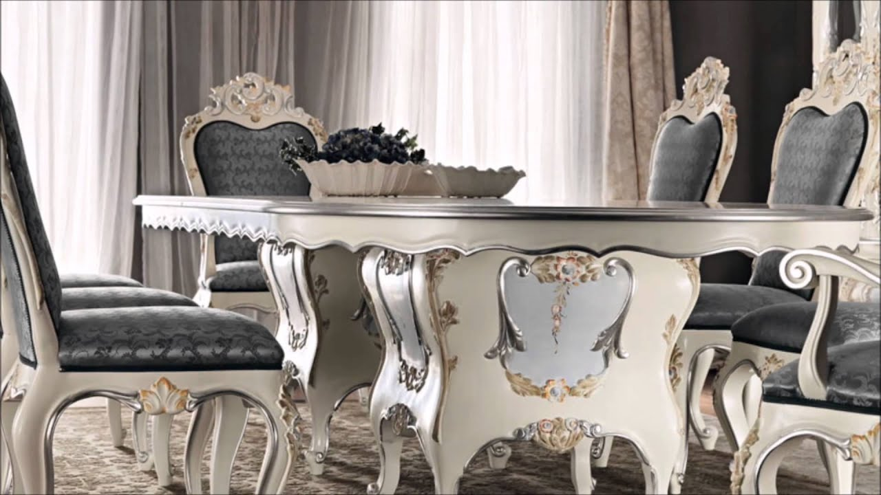 Classic dining room luxury interior design italian home for Home decor dining room