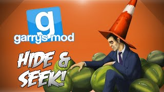 GMod Hide & Seek! - Watermelon Fun Zone, Minecraft, Rock, Paper, Scissors & More (Funny Moments)