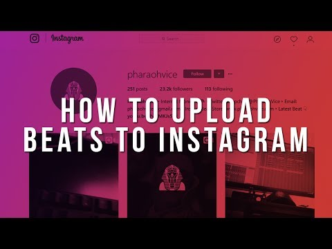 How To Upload Beats To Instagram [Tutorial by Pharaoh Vice]