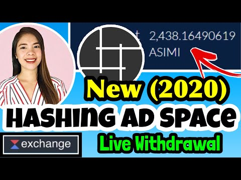 EARN BY VIEWING ADS: HASHING AD SPACE NEW UPDATE 2020 | LIVE WITHDRAWAL STEP BY STEP WAVES EXCHANGE