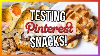 Trying Pinterest Snacks! Cheap & Fun!