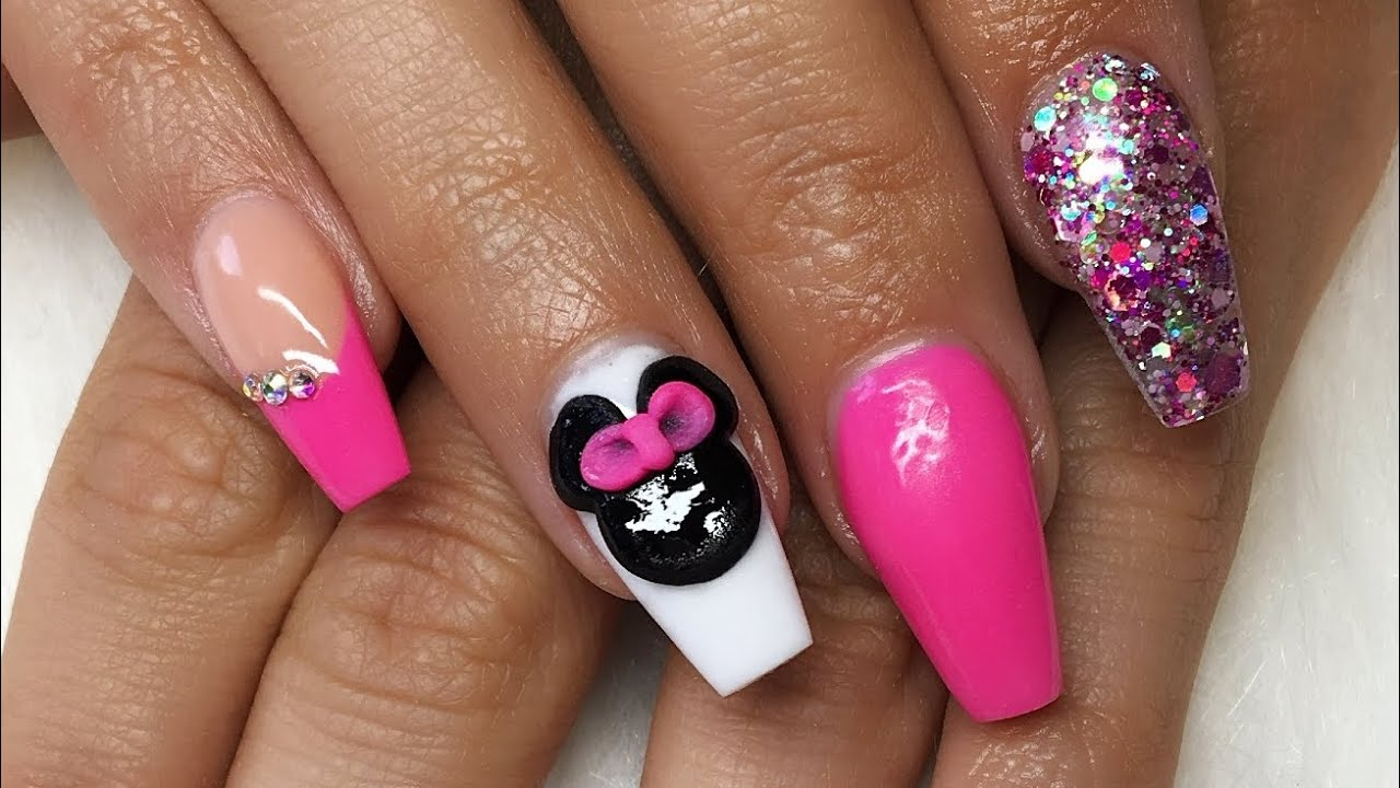 Mickey Mouse Acrylic Nails | Best Nail Designs 2018