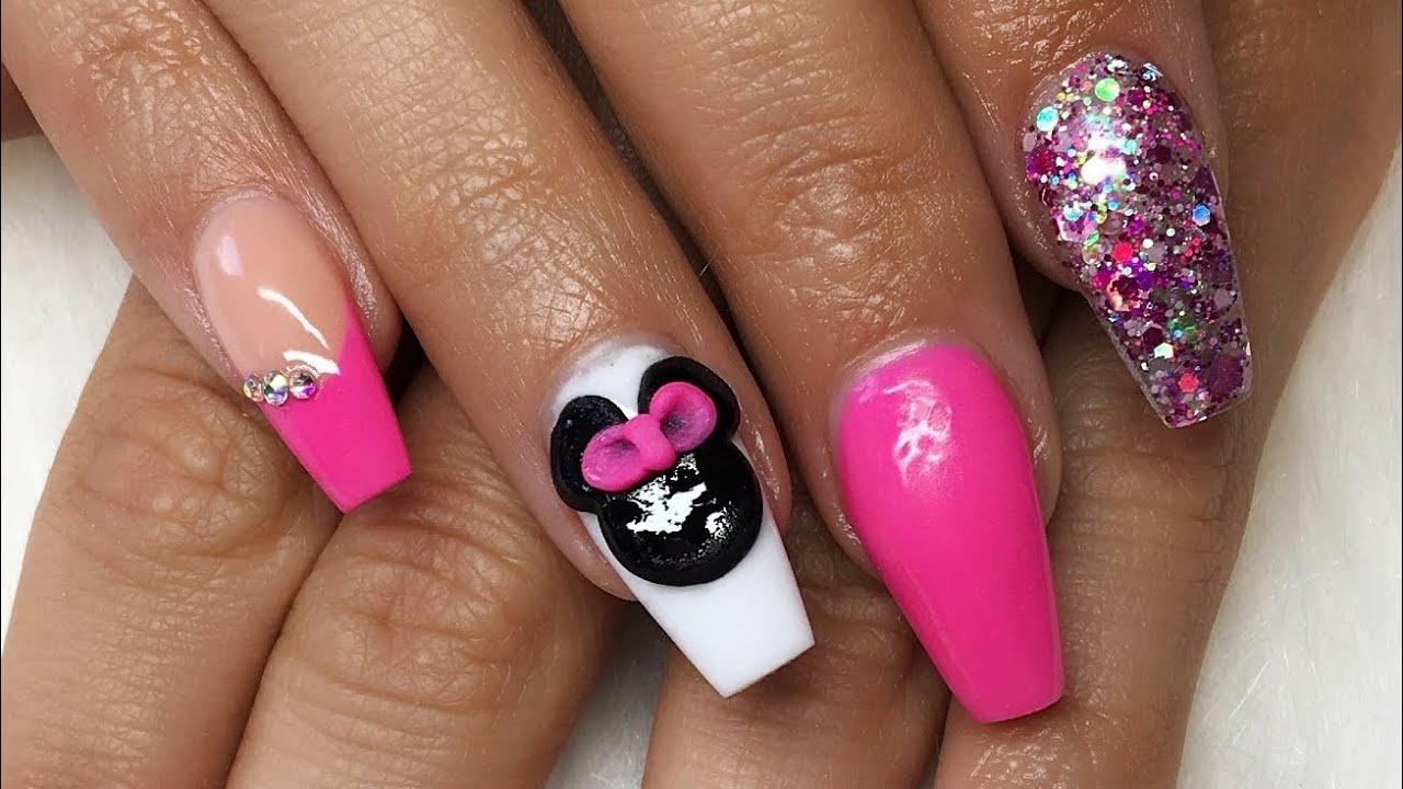 acrylic nails disney