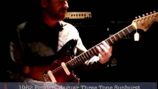 1962 Fender Jaguar Three Tone Sunburst - David Lowery at Chicago Music Exchange