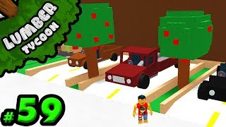 Lumber Tycoon #59: FINISHING our Parking Lot!! | Roblox