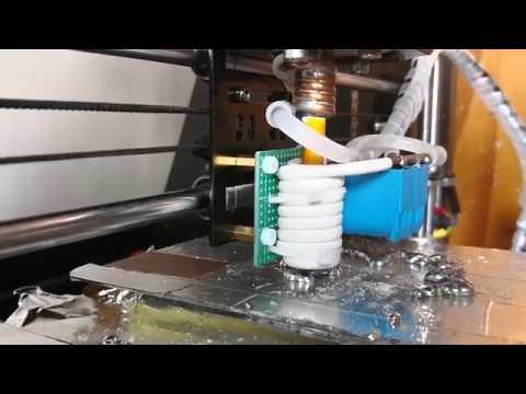 Induction heating metal printer, A modify Prusa 3D printer for metal.