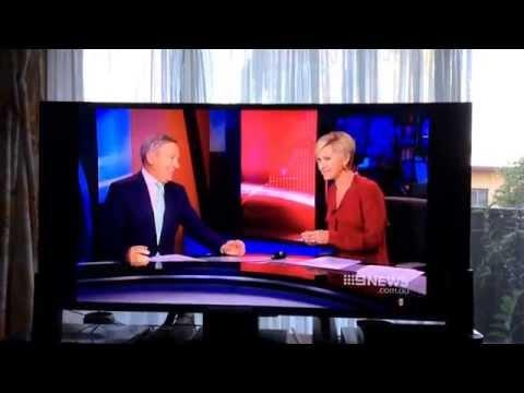 """Channel 9 Sydney news reader miss pronounces news anchors name, Ken """"SLUTS""""  LOL fail 7th April 2015"""