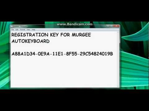 murgee auto keyboard registration key