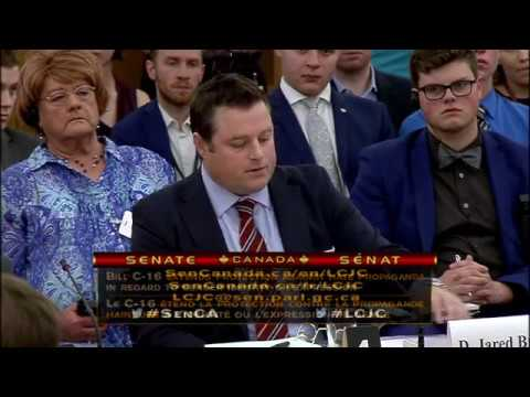 Senate Hearing on C16 - Dr. Jordan B. Peterson and D. Jared Brown
