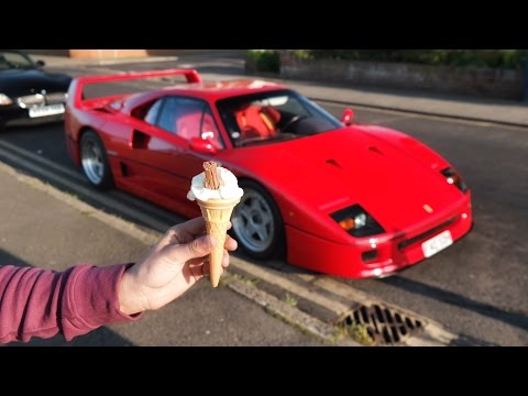 Driving A Ferrari F40 To Get An Ice Cream