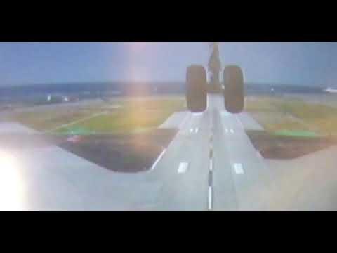 A350那覇空港離陸シーン