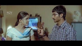 Yogesh Escape Heroine from home for her lover | Ravana Kannada Movie Scenes | Sanchitha Padukone