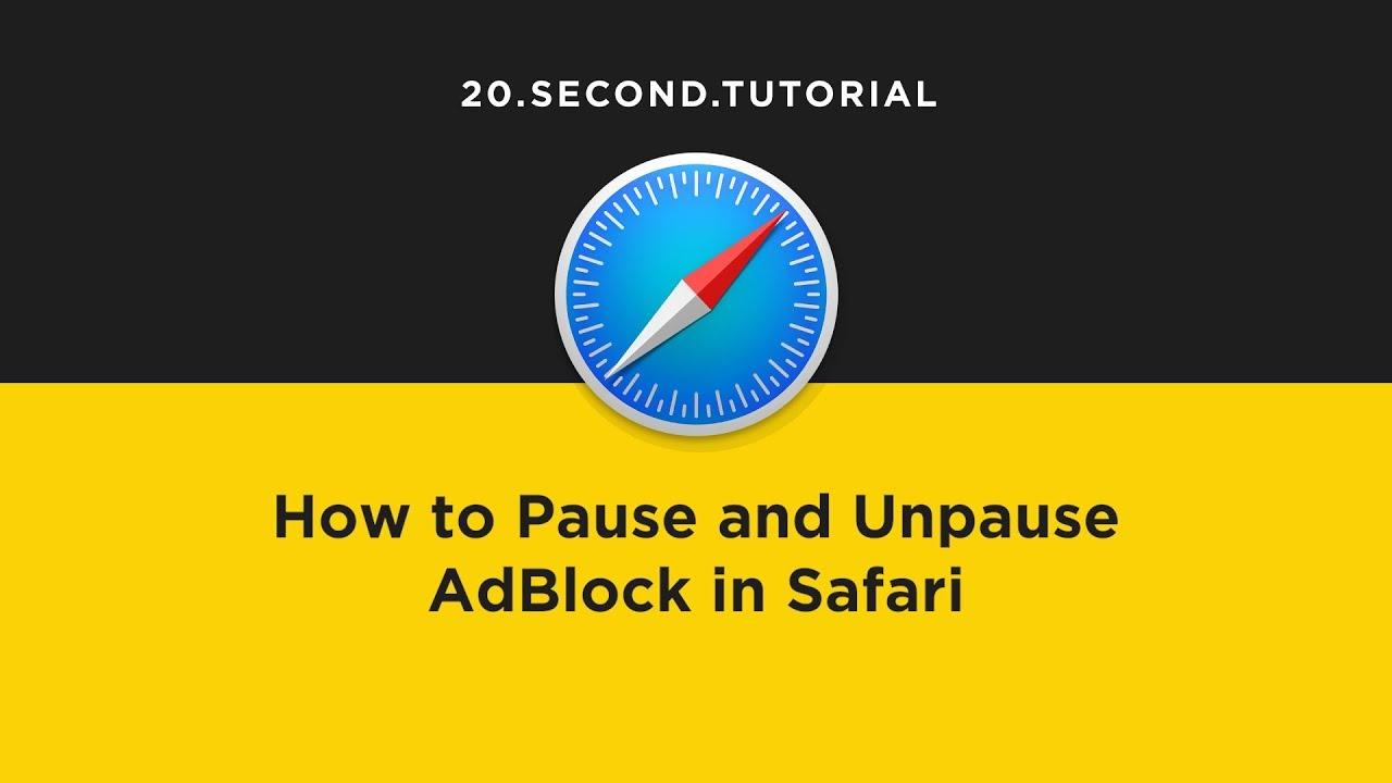 Pause Ad Block in Safari | Safari Tutorial #9