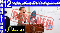 Reason Behind Asim Saleem Bajwas Resignation Headlines 12 PM 4 August 2021 GNN DB1U