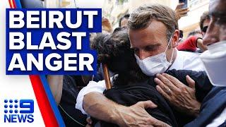 French President Macron visits Beirut explosion site   9News Australia