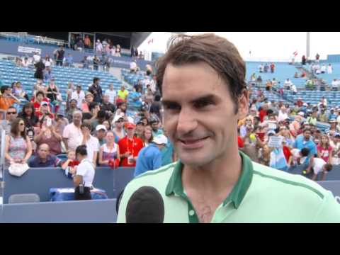 Interview with Roger Federer after Cincinnati 2014 final vs David Ferrer