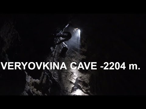 Veryovkina Cave -2204 M./The 2-nd Movie About The Deepest Cave In The World (Subtitles In English)