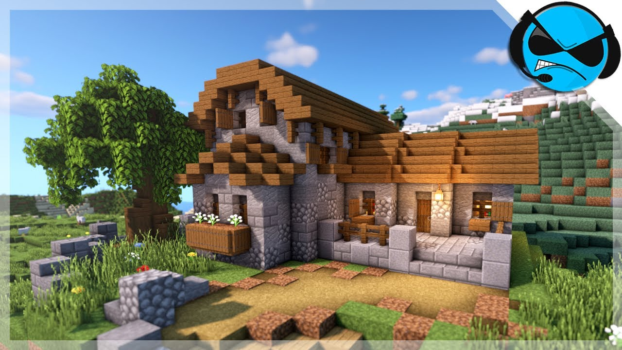 Minecraft: How to Build a House/Library  Medieval Survival House Tutorial