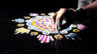 Diwali rangoli designs with colours special techniques