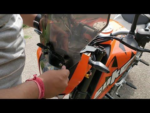 Installing Windshield In KTM DUKE 200 | Modification